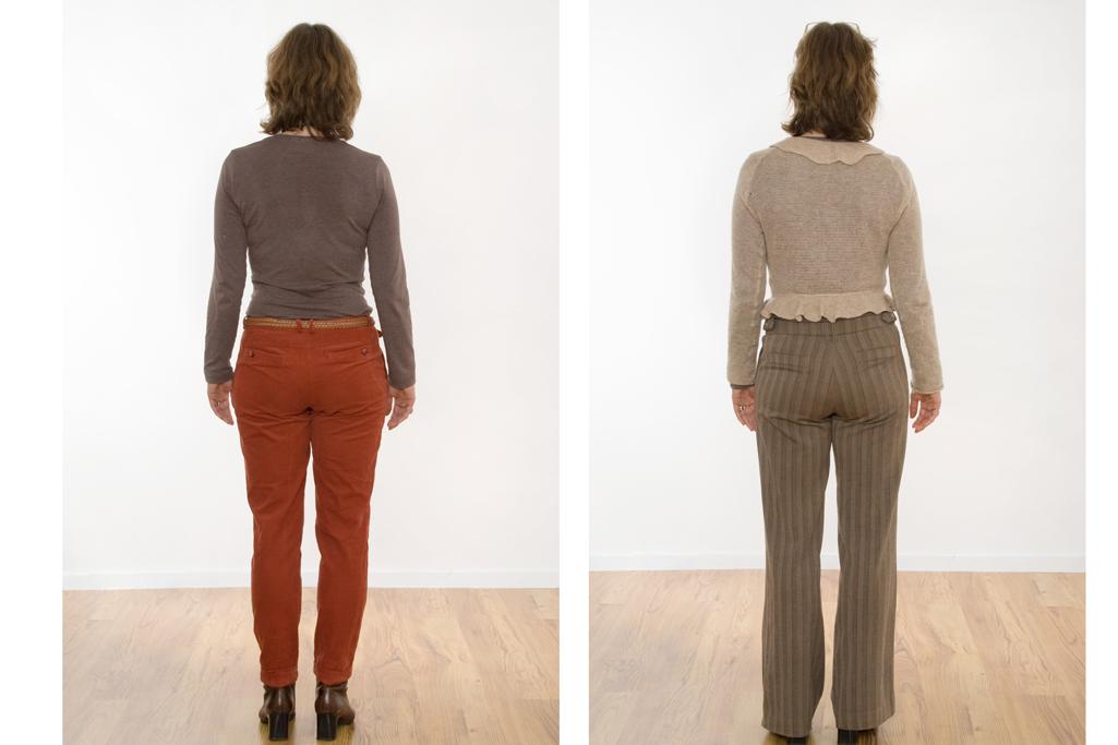 So wirkt ein langer Rücken kürzer